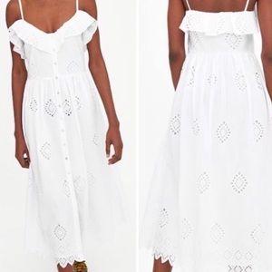 Zara Eyelet maxi dress